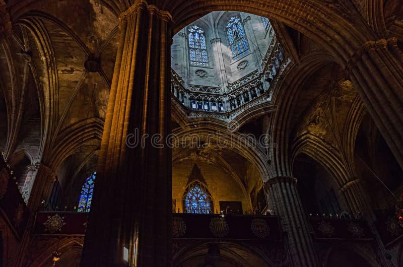 Catedral de Barcelona arkivfoto