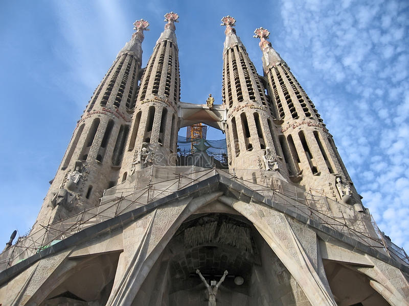 Catedral de Barcelona foto de stock royalty free