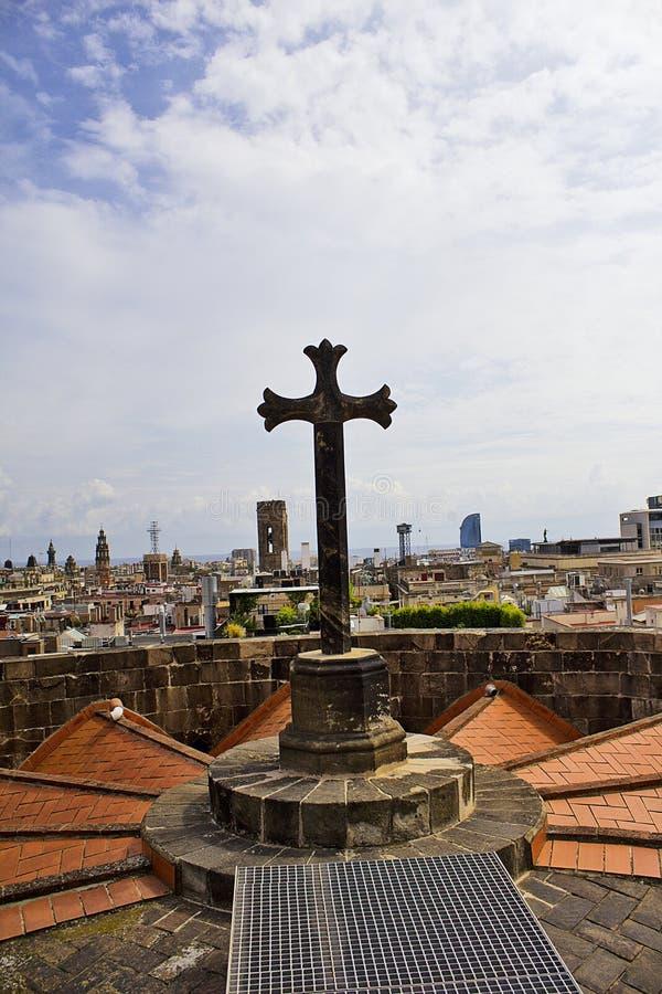Catedral Catedral de Barcelona del ` s de Barcelona fotos de archivo