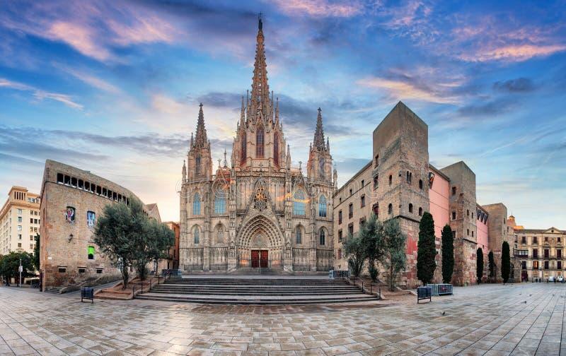 Catedral de Barcelona, España imagen de archivo