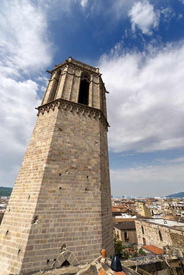 Catedral de Barcelona - España imagen de archivo