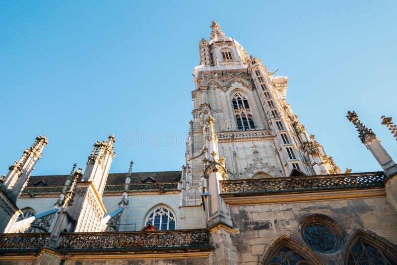 A catedral de Berna na cidade velha de Berna, Suíça imagem de stock royalty free