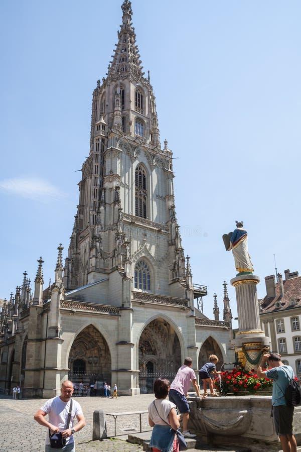A catedral de Berna, Suíça fotografia de stock royalty free