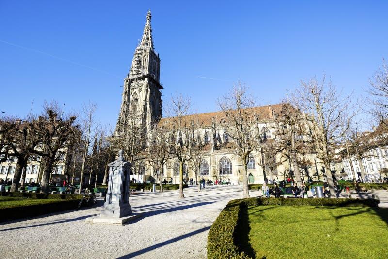 A catedral de Berna, Suíça imagens de stock royalty free