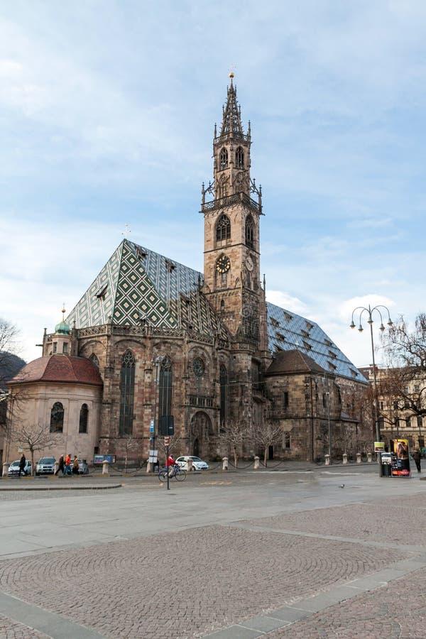 Catedral de Bolzano fotografía de archivo