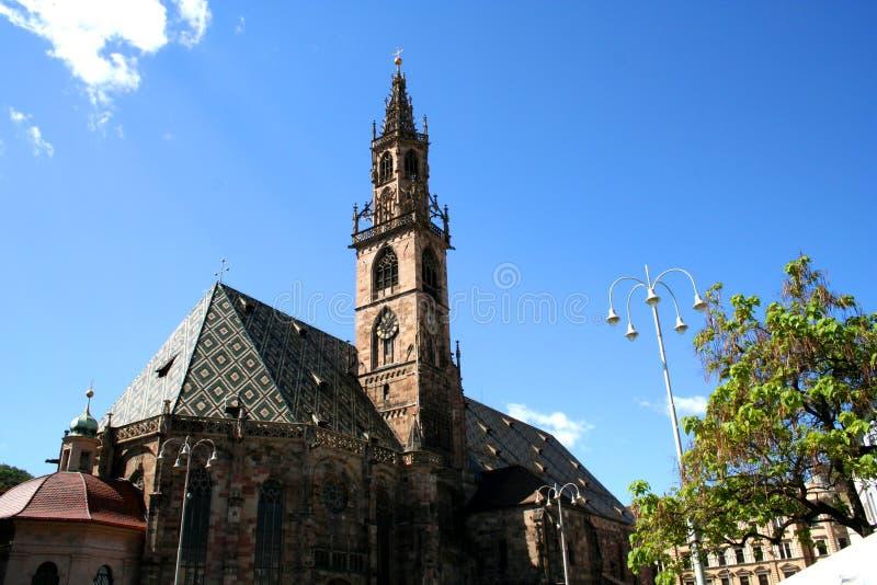 Catedral de Bozen imagen de archivo