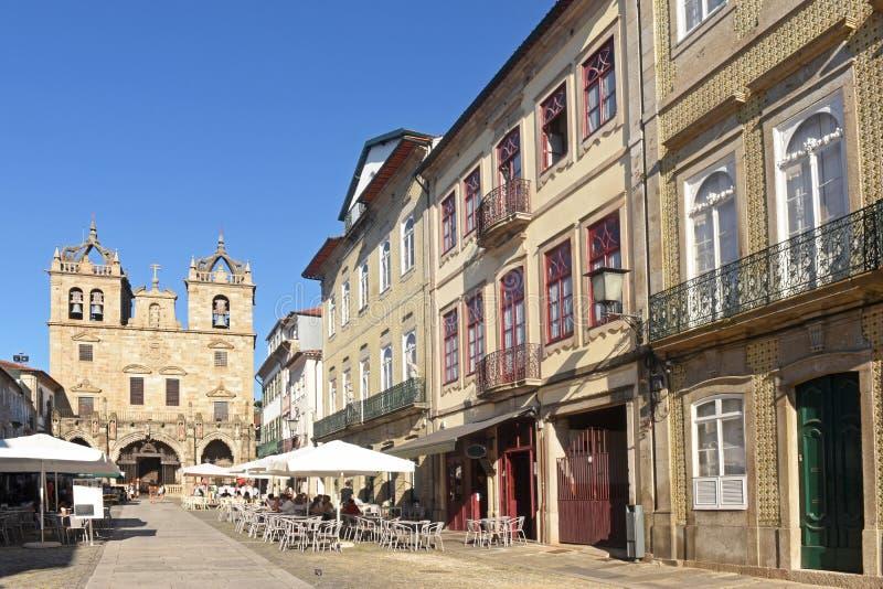 A catedral de Braga, Portugal imagem de stock