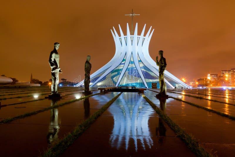 Catedral de Brasília imagens de stock