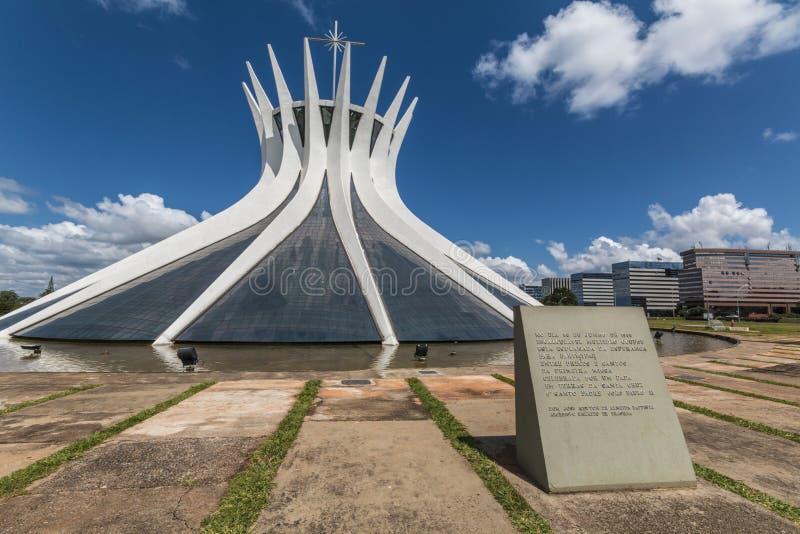 Catedral de Brasilia - Brasília - DF - el Brasil fotografía de archivo
