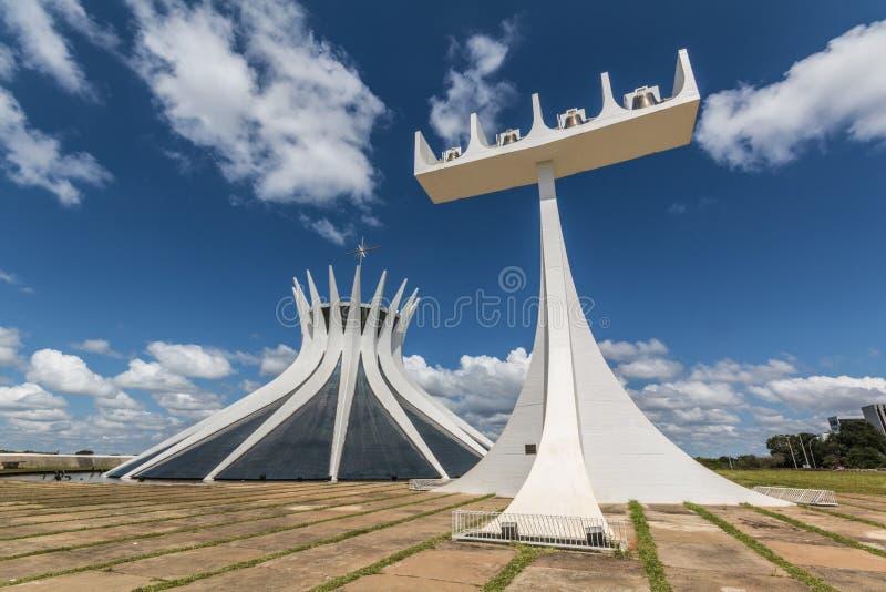 Catedral de Brasilia - Brasília - DF - el Brasil imagen de archivo