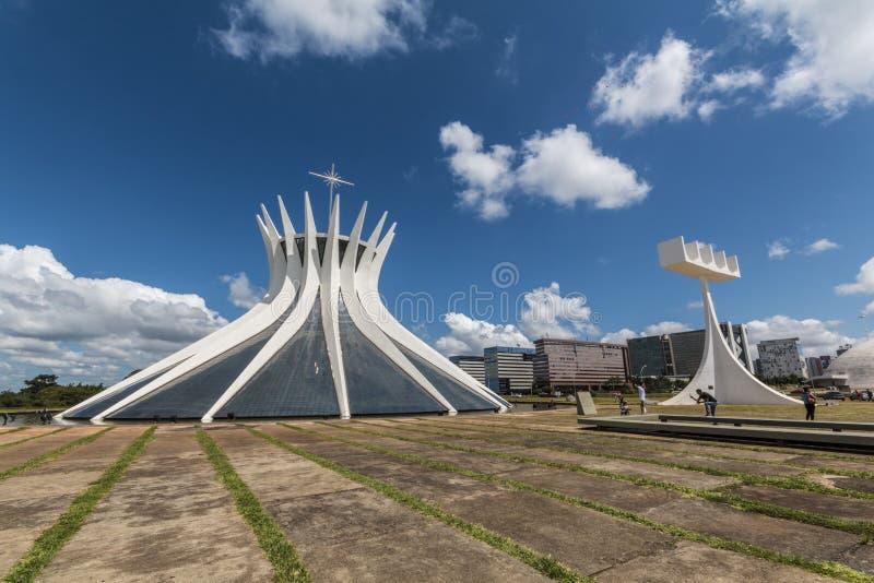 Catedral de Brasilia - Brasília - DF - el Brasil foto de archivo