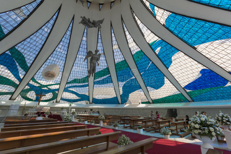 Catedral de Brasilia - Brasília - DF - el Brasil fotos de archivo
