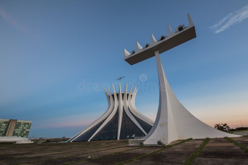 Catedral de Brasilia - Brasília - DF - el Brasil imagen de archivo libre de regalías