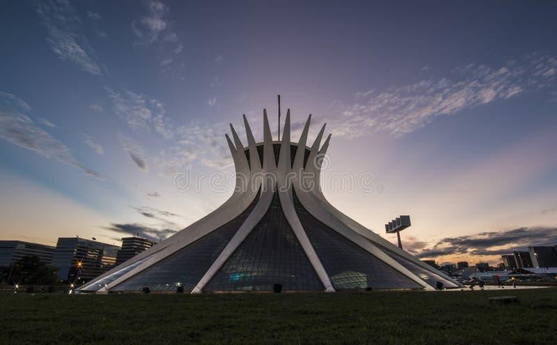 Catedral de Brasilia - Brasília - DF - el Brasil foto de archivo libre de regalías
