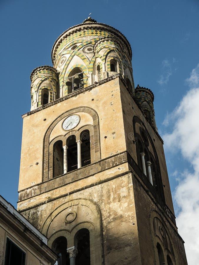 A catedral de brilho do ` s de St Andrew em Amalfi fotos de stock royalty free