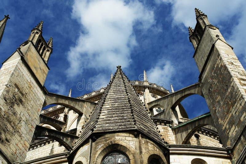 Catedral de Burges, Cathédrale St Etienne de Burges imagem de stock royalty free
