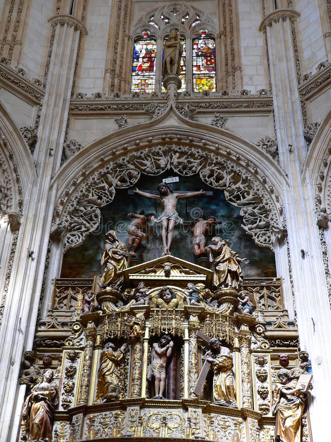 Catedral de Burgos (Hiszpania) obrazy stock