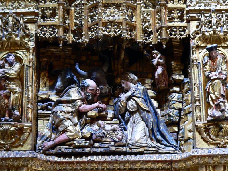 Catedral de Burgos (Hiszpania) obrazy royalty free