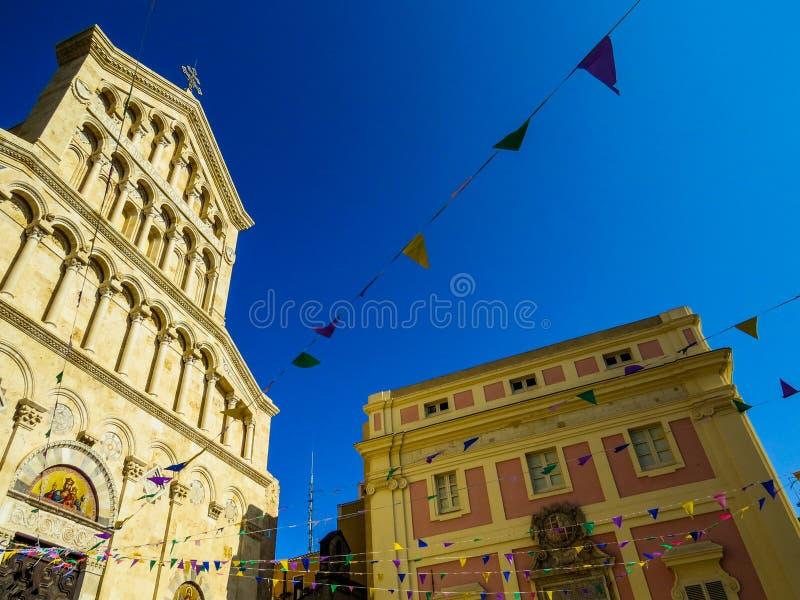 Catedral de Cagliari fotografia de stock royalty free