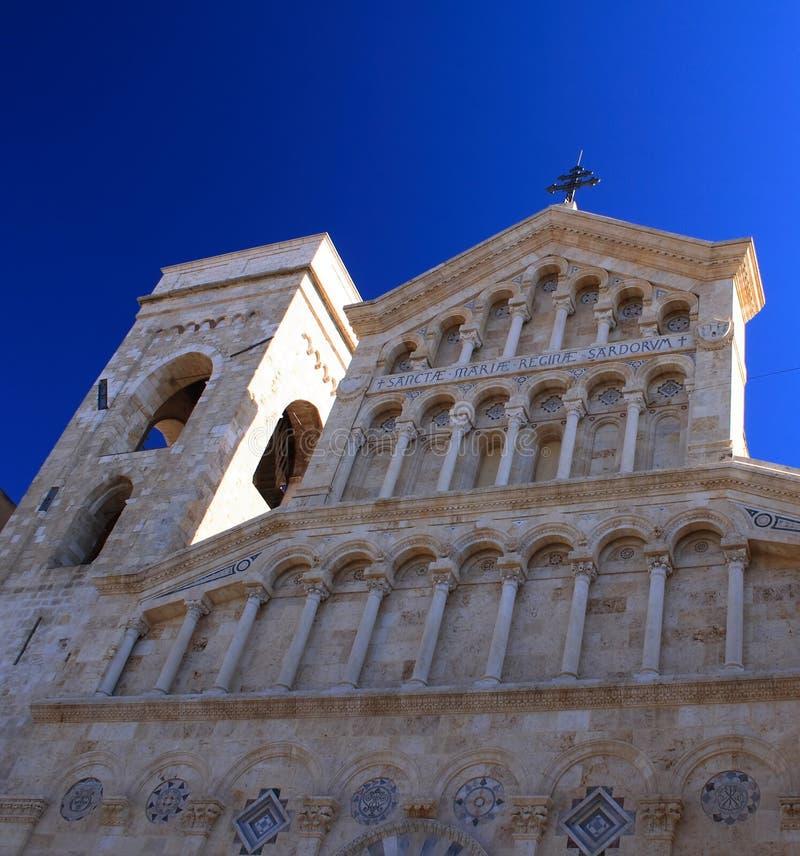 Catedral de Cagliari imagen de archivo