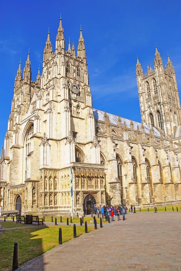 Catedral de Cantorbery en Cantorbery en Kent de Inglaterra imagenes de archivo
