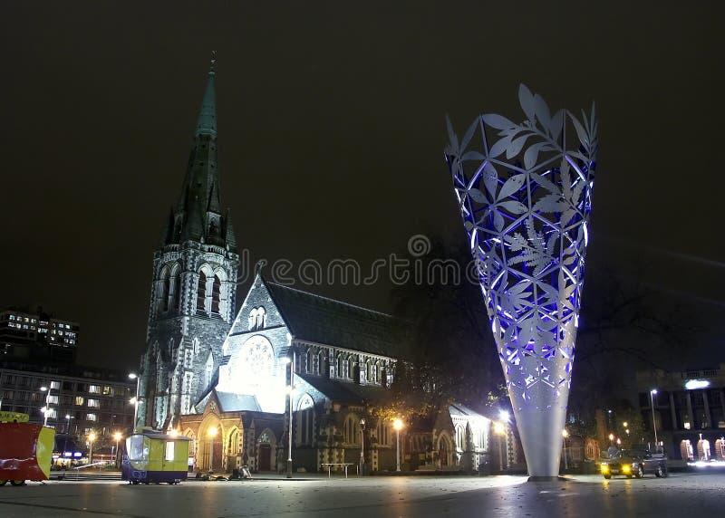 Catedral de Cantorbery, monumento, Christchurch fotos de archivo
