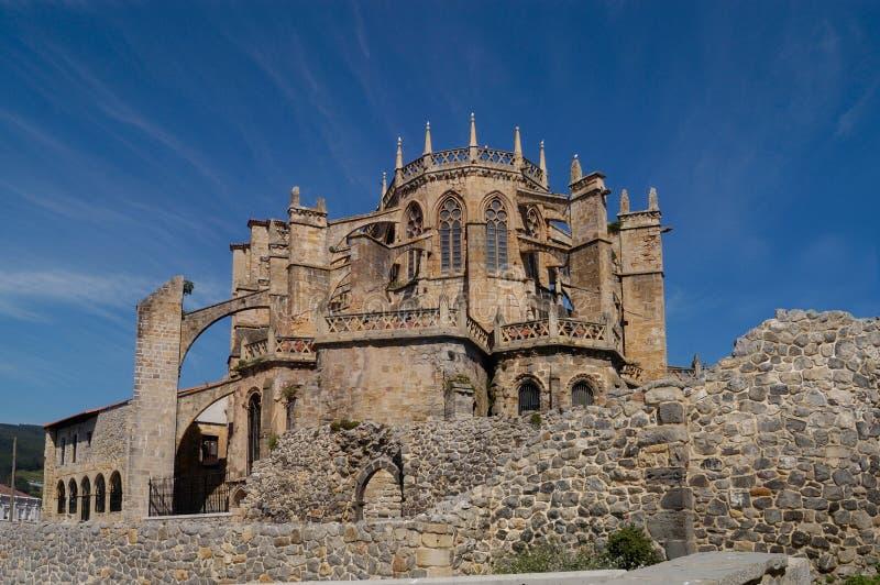 Catedral de Castro Urdiales, Cantabria, imagen de archivo