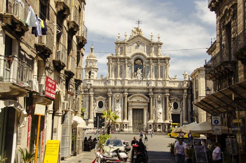 Catedral de Catania imagens de stock royalty free