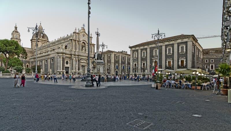 Catedral de Catania fotos de stock