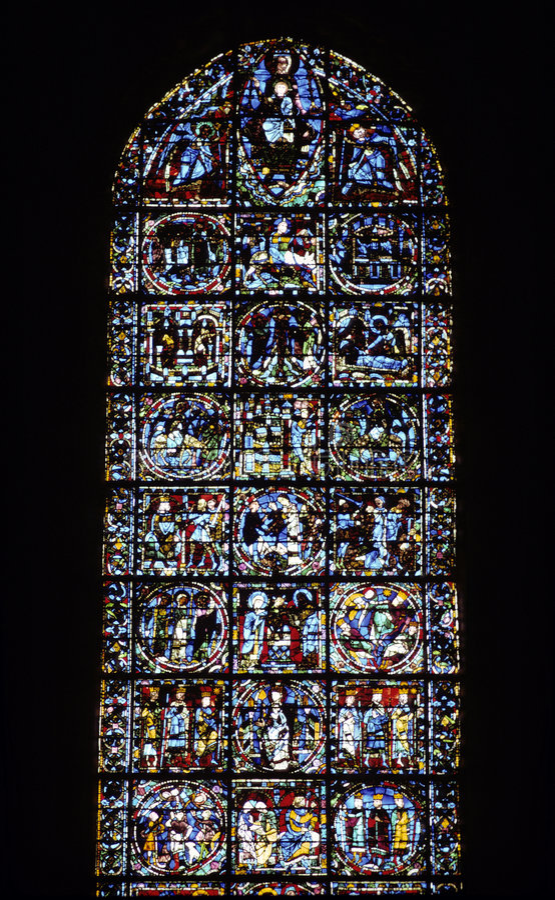 Catedral de Chartres foto de stock
