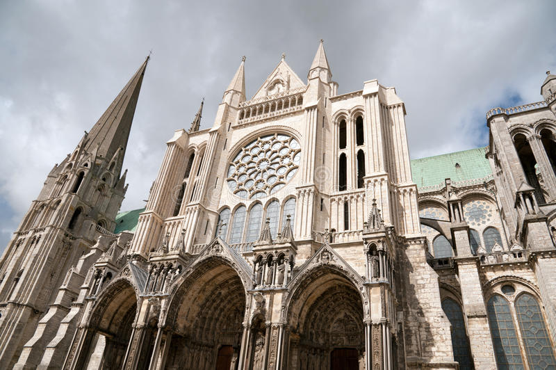 Catedral de Chartres fotografia de stock royalty free