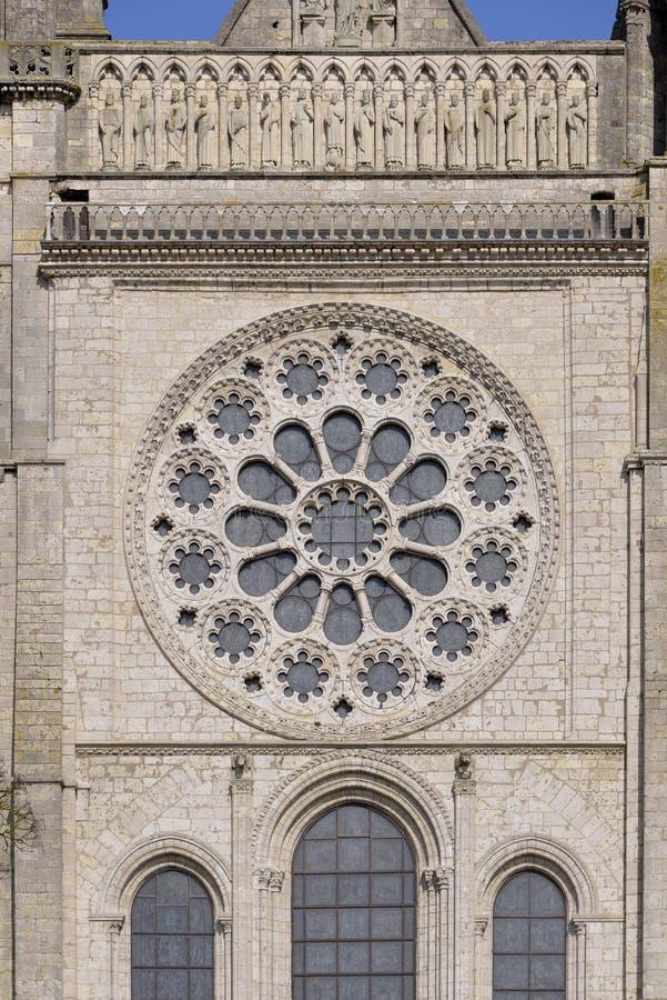 Catedral de Chartres em França imagem de stock