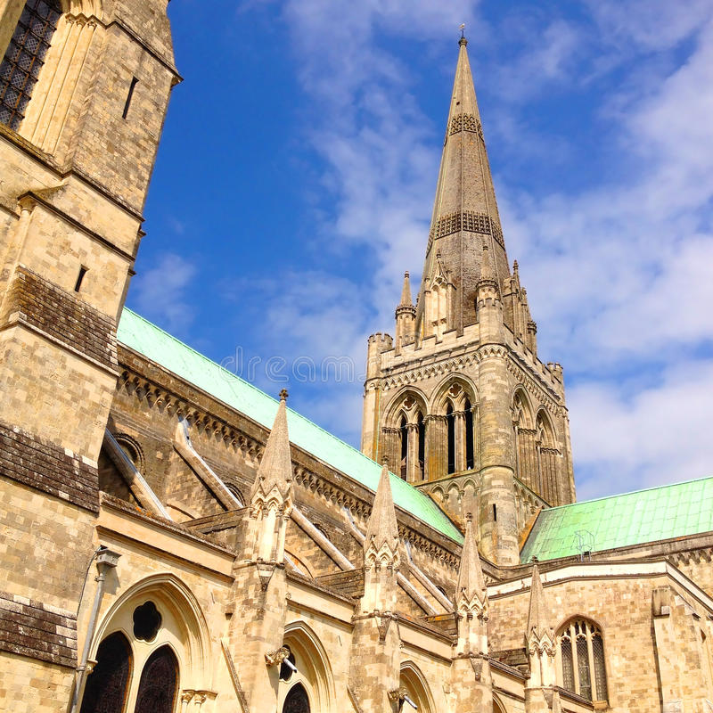 Catedral de Chicester fotos de stock royalty free
