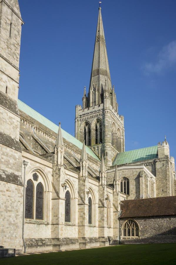Catedral de Chichester, Reino Unido fotografia de stock
