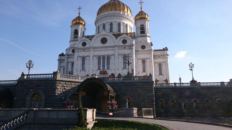 Catedral de Christ o salvador em Moscovo fotos de stock royalty free