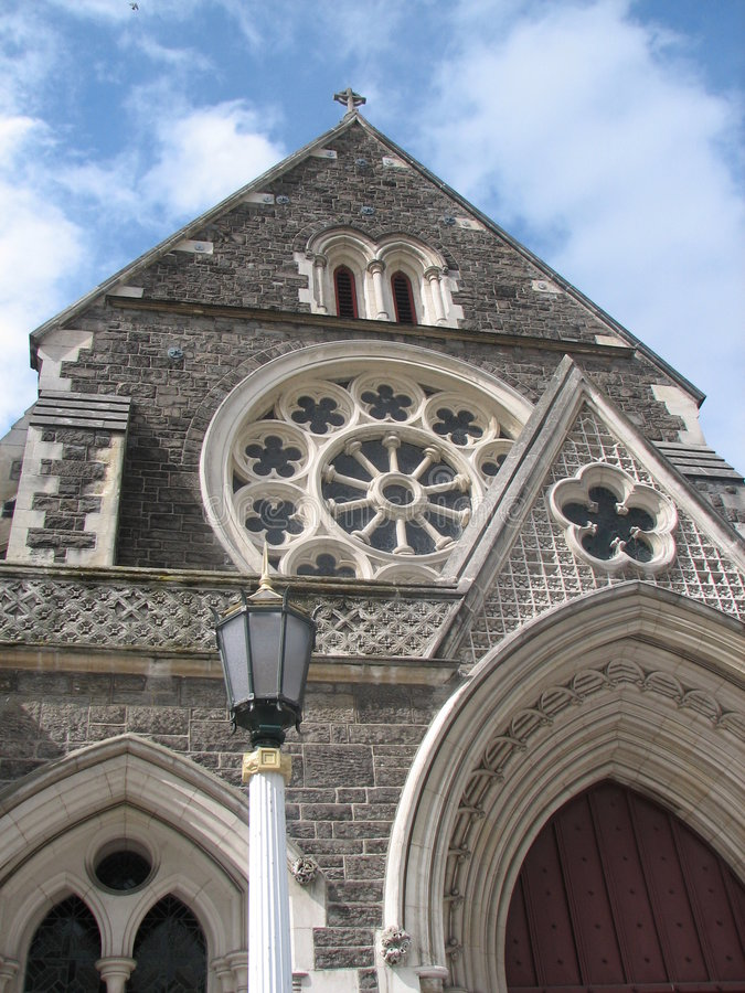 Catedral de Christchurch fotos de stock royalty free
