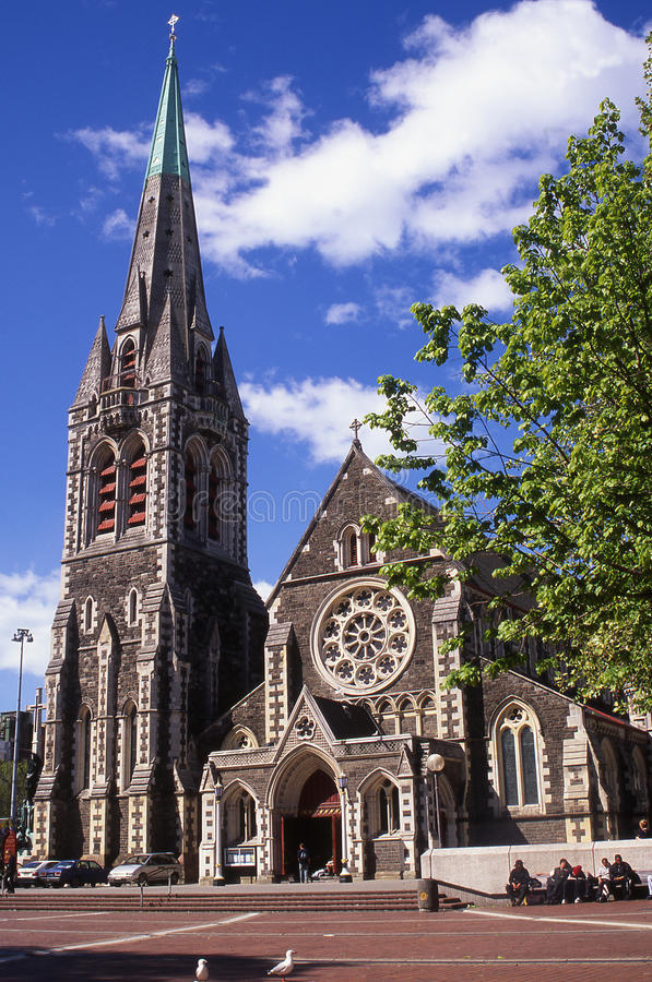 Catedral de Christchurch imagenes de archivo