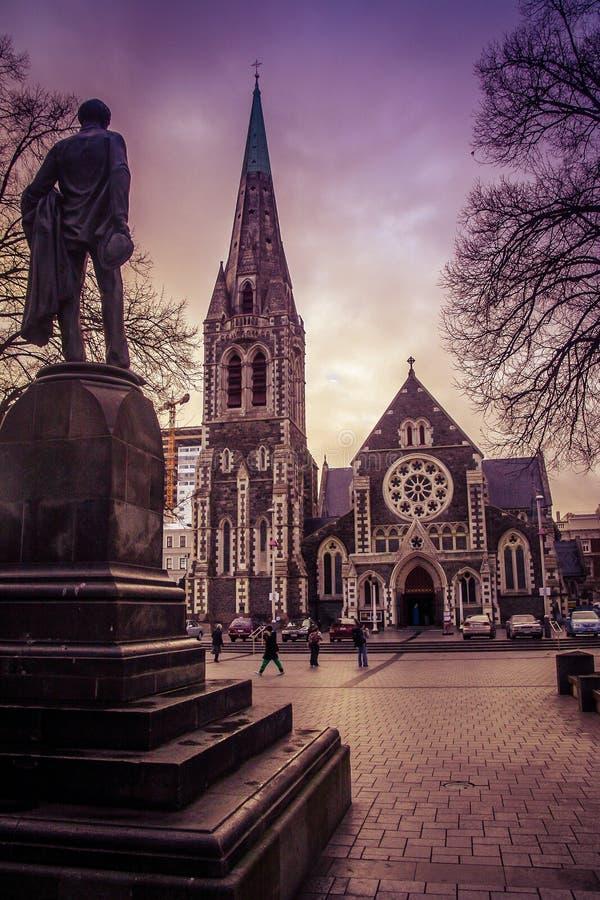 Catedral de Christchurch imagem de stock