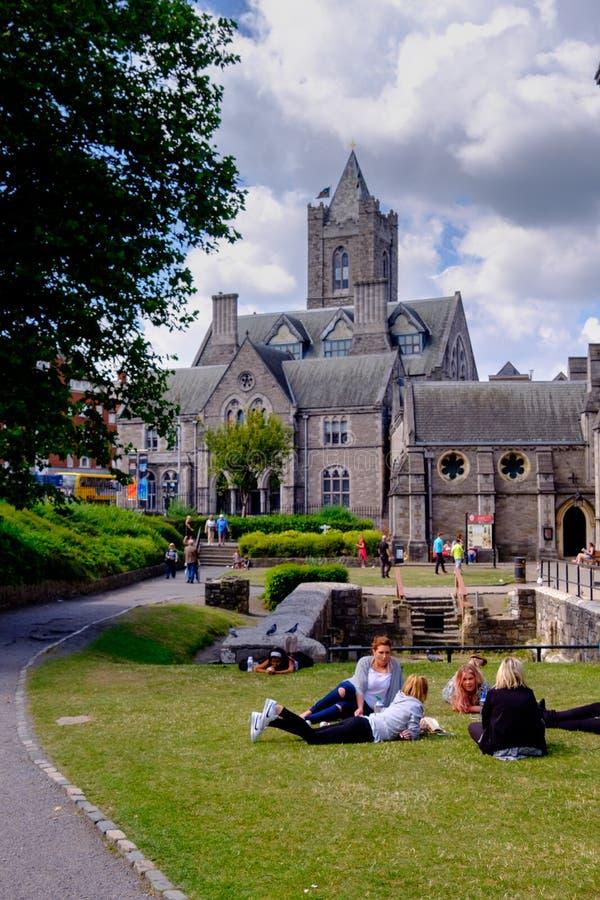 Catedral de Christchurch fotografia de stock royalty free
