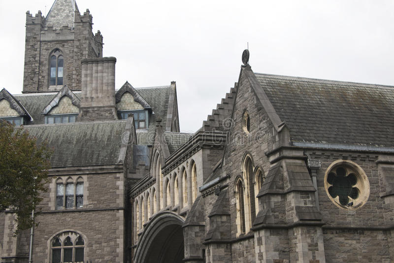 Catedral de Christchurch, una iglesia católica importante en Dublín foto de archivo libre de regalías