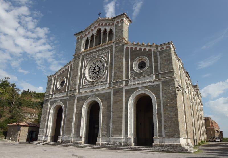 Catedral de Cortona, Italia fotografía de archivo