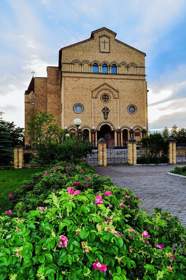 Catedral de Cristo, Christian Evangelical Church em Veliky Novgorod, Rússia imagens de stock