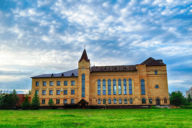 Catedral de Cristo, Christian Evangelical Church em Veliky Novgorod, Rússia foto de stock