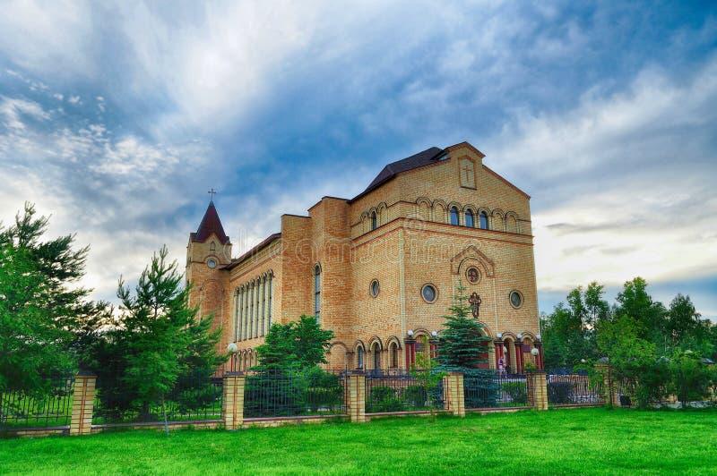 Catedral de Cristo, Christian Evangelical Church em Veliky Novgorod, Rússia fotografia de stock