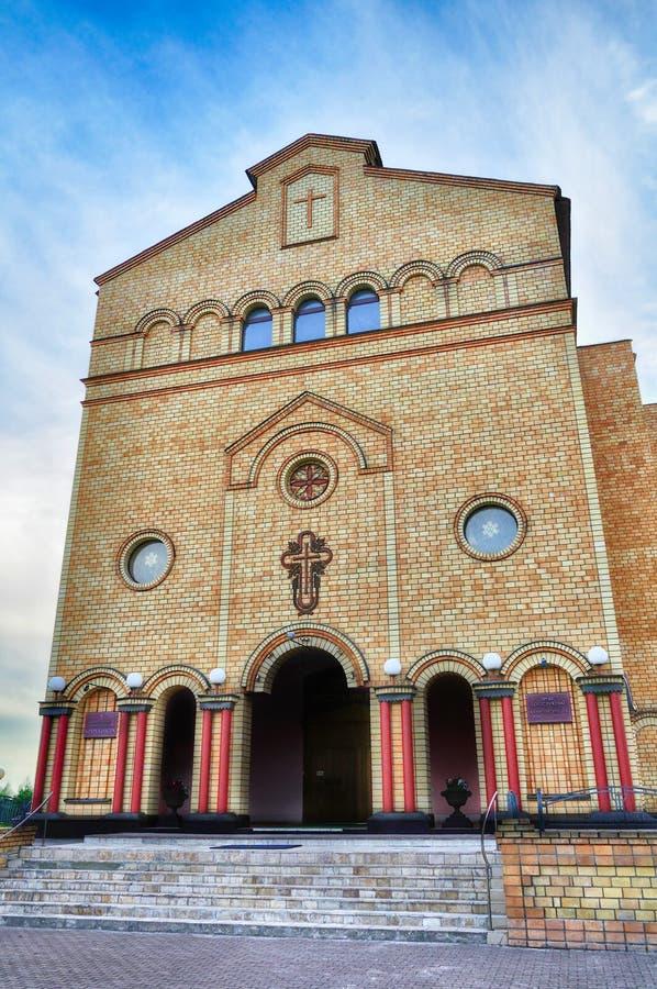 Catedral de Cristo, Christian Evangelical Church em Veliky Novgorod, Rússia imagens de stock royalty free