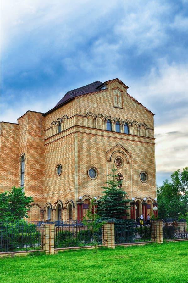 Catedral de Cristo, Christian Evangelical Church em Veliky Novgorod, Rússia fotos de stock