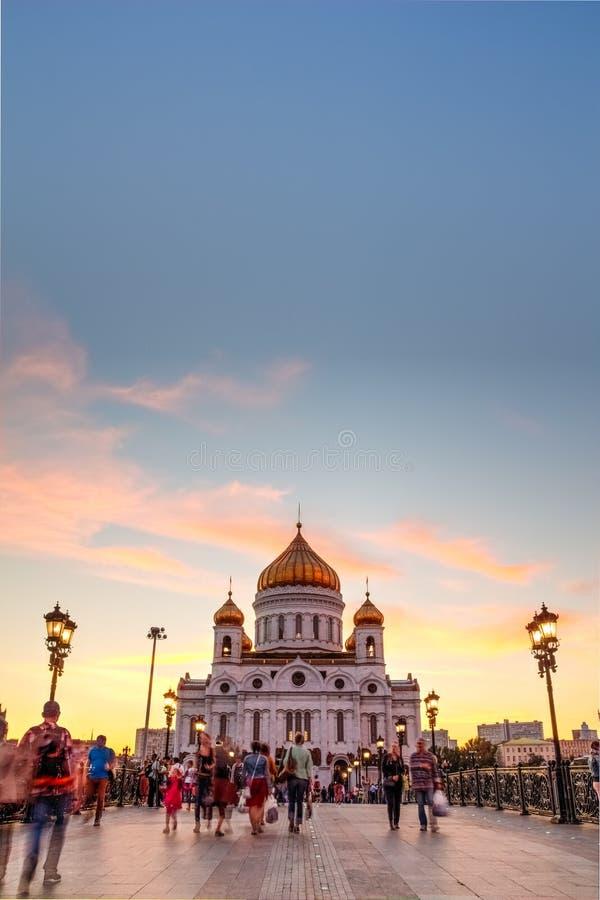 Catedral de Cristo el salvador en el cielo del fondo imagenes de archivo