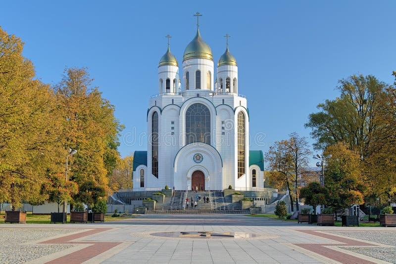 Catedral de Cristo el salvador en Kaliningrado, Rusia fotos de archivo
