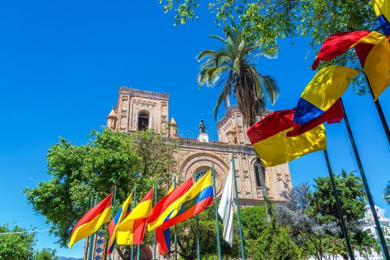 Catedral de Cuenca, Equador imagens de stock