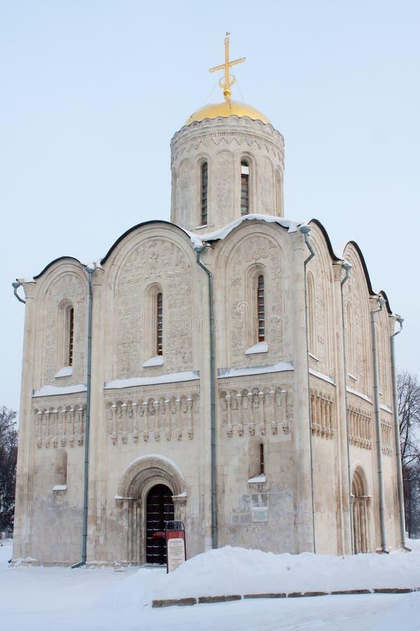 Catedral de Dmitrievskiy en Vladimir imagen de archivo